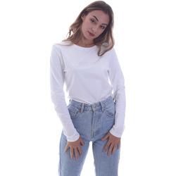 tekstylia Damskie T-shirty z długim rękawem Calvin Klein Jeans K20K202386 Biały