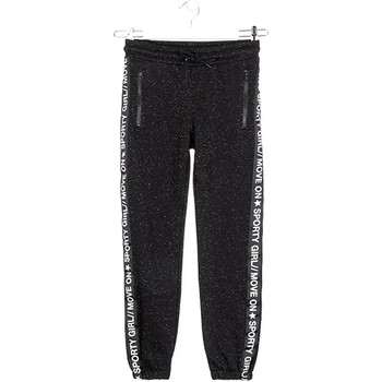tekstylia Dziewczynka Spodnie dresowe Losan 024-6010AL Czarny