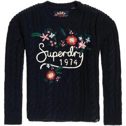 tekstylia Damskie Swetry Superdry G610003NR Niebieski