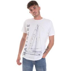 tekstylia Męskie T-shirty z krótkim rękawem Navigare NV31109 Biały