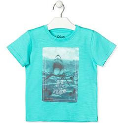 tekstylia Dziecko T-shirty z krótkim rękawem Losan 015-1018AL Zielony