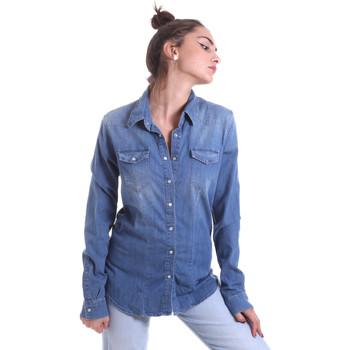 tekstylia Damskie Koszule Fornarina BE174577D884AS Niebieski