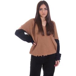 tekstylia Damskie Swetry P-Jean 1X109Q Y4ZX Beżowy