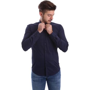 tekstylia Męskie Koszule z długim rękawem Automatic CAU22400 Niebieski