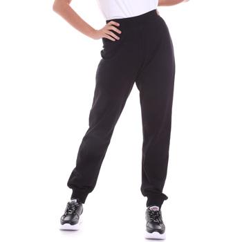 tekstylia Damskie Spodnie Key Up 5FI47 0001 Czarny