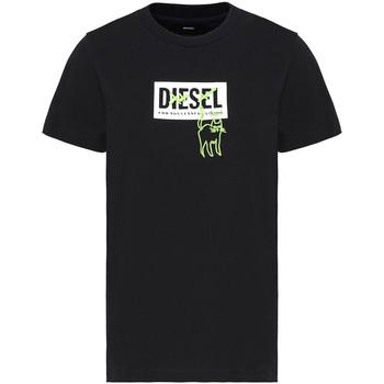 tekstylia Damskie T-shirty z krótkim rękawem Diesel A00255 0HERA Czarny