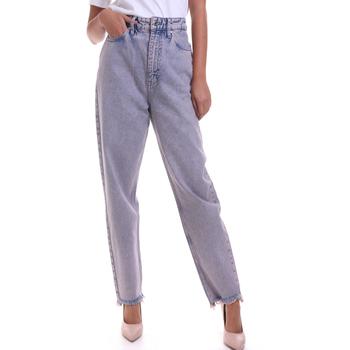 tekstylia Damskie Jeansy straight leg Calvin Klein Jeans K20K202116 Różowy
