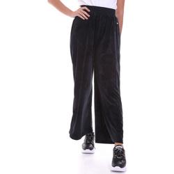 tekstylia Damskie Spodnie z lejącej tkaniny / Alladynki Key Up 5CS54 0001 Czarny