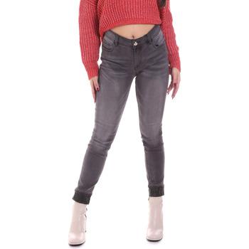 tekstylia Damskie Jeansy skinny Gaudi 021BD26024 Szary