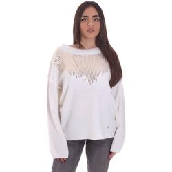 tekstylia Damskie Swetry Gaudi 021BD53044 Biały