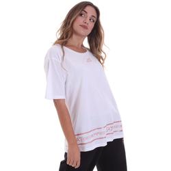 tekstylia Damskie T-shirty z krótkim rękawem Ea7 Emporio Armani 6HTT32 TJ52Z Biały