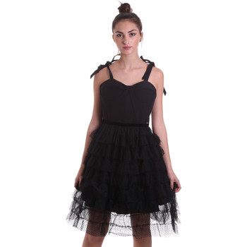 tekstylia Damskie Sukienki krótkie Fracomina F120W14019W01201 Czarny