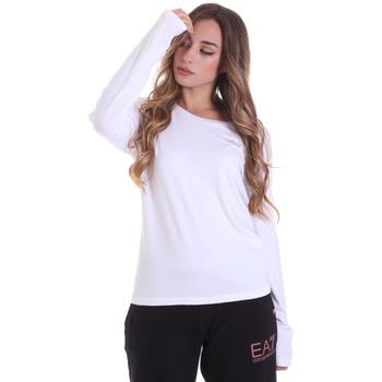 tekstylia Damskie T-shirty z długim rękawem Ea7 Emporio Armani 6HTT04 TJ28Z Biały