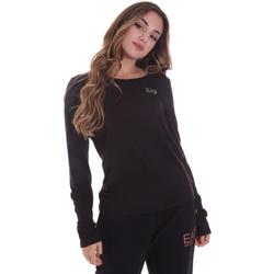 tekstylia Damskie T-shirty z długim rękawem Ea7 Emporio Armani 6HTT04 TJ28Z Czarny
