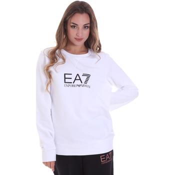 tekstylia Damskie Bluzy Ea7 Emporio Armani 8NTM39 TJ31Z Biały