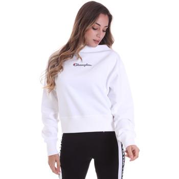tekstylia Damskie Bluzy Champion 113189 Biały