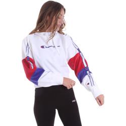 tekstylia Damskie Bluzy Champion 113338 Biały