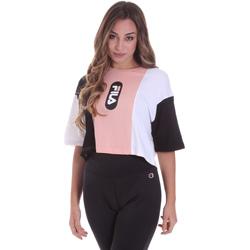 tekstylia Damskie T-shirty z krótkim rękawem Fila 687943 Różowy