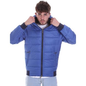 tekstylia Męskie Kurtki pikowane Gaudi 021GU35007 Niebieski