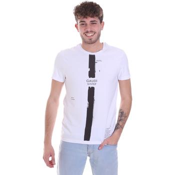 tekstylia Męskie T-shirty z krótkim rękawem Gaudi 021GU64035 Biały