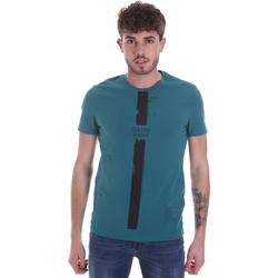 tekstylia Męskie T-shirty z krótkim rękawem Gaudi 021GU64035 Zielony