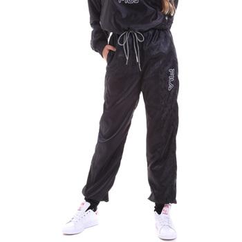 tekstylia Damskie Spodnie dresowe Fila 682873 Czarny