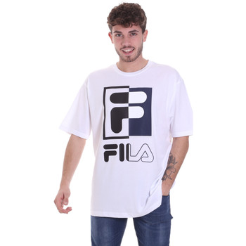 tekstylia Męskie T-shirty z krótkim rękawem Fila 687475 Biały