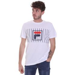 tekstylia Męskie T-shirty z krótkim rękawem Fila 687989 Biały