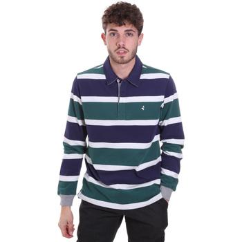 tekstylia Męskie Koszulki polo z długim rękawem Navigare NV30026 Niebieski