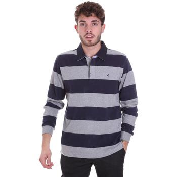 tekstylia Męskie Koszulki polo z długim rękawem Navigare NV30029 Niebieski