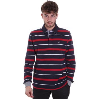 tekstylia Męskie Koszulki polo z długim rękawem Navigare NV30030 Niebieski