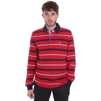 tekstylia Męskie Koszulki polo z długim rękawem Navigare NV30030 Czerwony