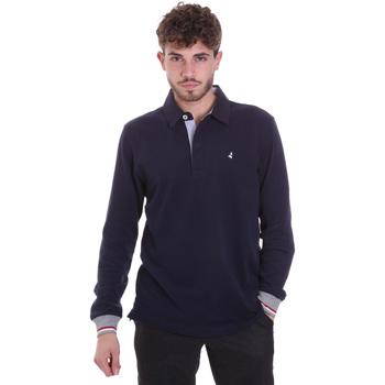 tekstylia Męskie Koszulki polo z długim rękawem Navigare NV32023 Niebieski