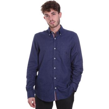 tekstylia Męskie Koszule z długim rękawem Navigare NV91135 BD Niebieski