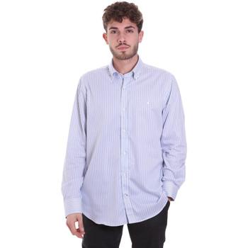 tekstylia Męskie Koszule z długim rękawem Navigare NV91111 BD Niebieski