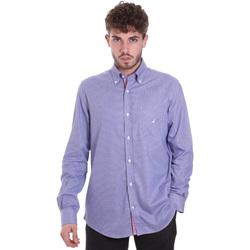 tekstylia Męskie Koszule z długim rękawem Navigare NV91133 BD Niebieski