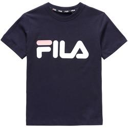 tekstylia Dziecko T-shirty z krótkim rękawem Fila 688021 Niebieski