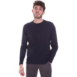 tekstylia Męskie T-shirty z długim rękawem Sseinse MI1691SS Niebieski