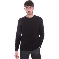 tekstylia Męskie T-shirty z długim rękawem Sseinse MI1691SS Czarny
