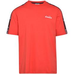 tekstylia Męskie T-shirty z krótkim rękawem Diadora 502176429 Czerwony