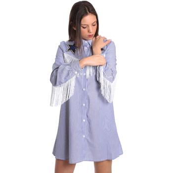 tekstylia Damskie Sukienki krótkie Denny Rose 811DD10018 Niebieski