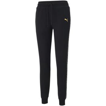 tekstylia Damskie Spodnie dresowe Puma 587150 Czarny