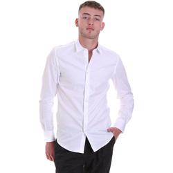 tekstylia Męskie Koszule z długim rękawem Antony Morato MMSL00628 FA400079 Biały