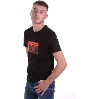 tekstylia Męskie T-shirty z krótkim rękawem Antony Morato MMKS01880 FA100144 Czarny