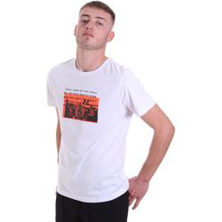 tekstylia Męskie T-shirty z krótkim rękawem Antony Morato MMKS01880 FA100144 Biały