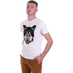 tekstylia Męskie T-shirty z krótkim rękawem Antony Morato MMKS01878 FA100144 Biały