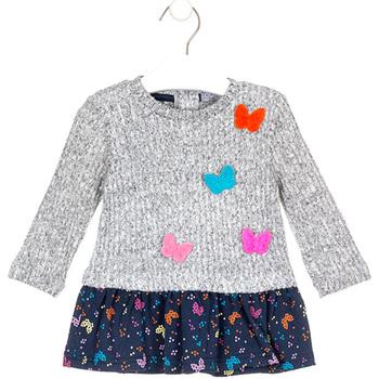 tekstylia Dziewczynka Sukienki krótkie Losan 028-7015AL Szary
