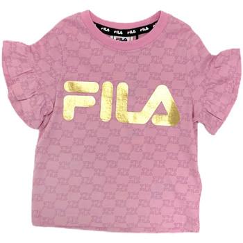 tekstylia Dziewczynka T-shirty z krótkim rękawem Fila 688038 Różowy