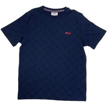 tekstylia Chłopiec T-shirty z krótkim rękawem Fila 688084 Niebieski