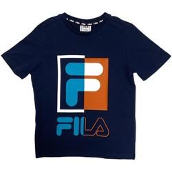 tekstylia Dziecko T-shirty z krótkim rękawem Fila 688149 Niebieski